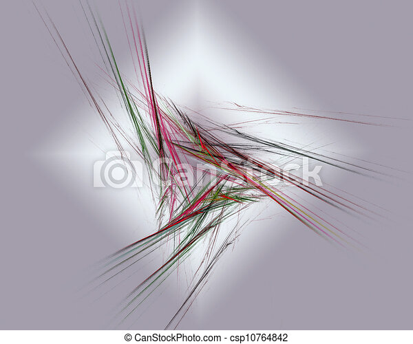 Abstract Fractal Art Lines Object - csp10764842