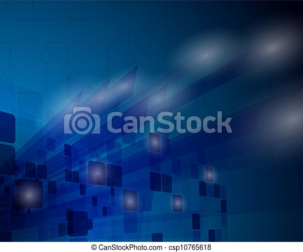 Technological blue background - csp10765618