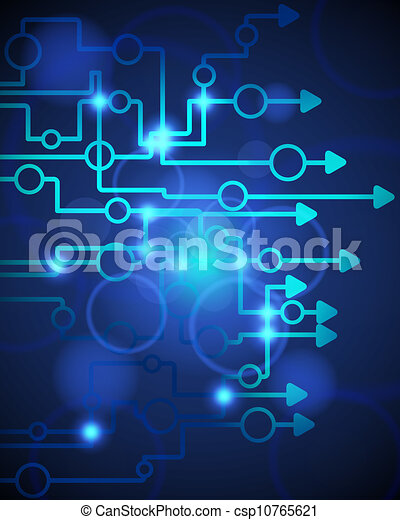 Technological blue background - csp10765621