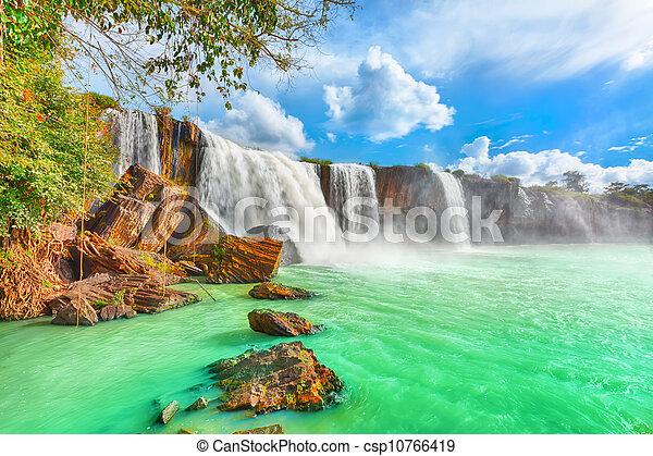 seco, cascada,  nur - csp10766419