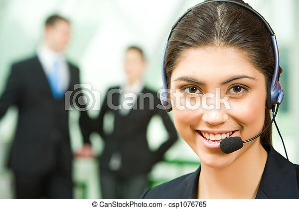 Consultant with headset - csp1076765