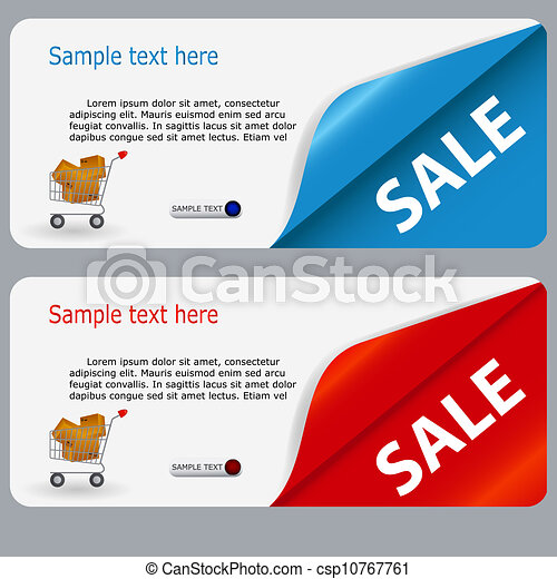 Sale banner with place for your text. vector illustration - csp10767761