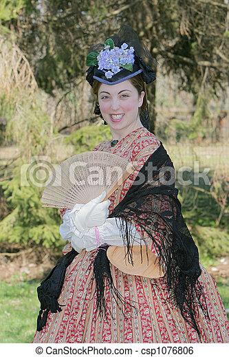 civil war era woman - csp1076806