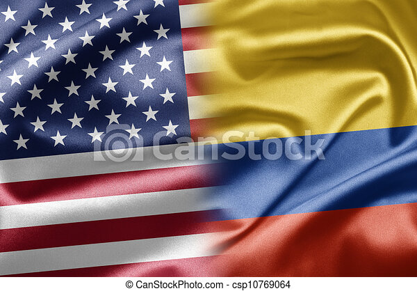 stock illustration of usa and colombia us and the free american flag clipart american flag clipart png