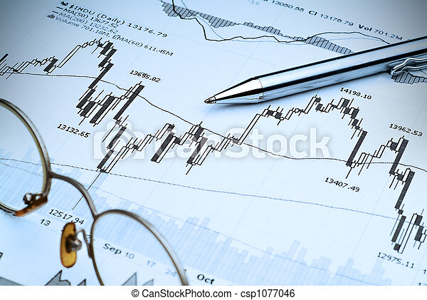Stock Market Analysis-Blue tint - csp1077046