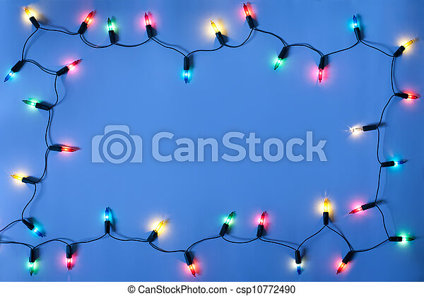 Christmas lights frame - csp10772490