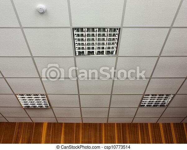 Stock de fotograf a de techo l mparas oficina blanco for Lamparas de oficina