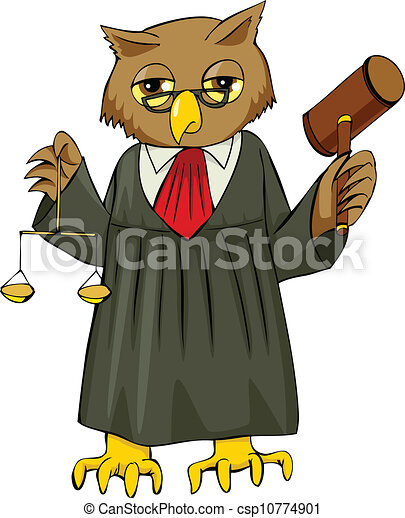 Clipart vettoriali di giudice cartone animato - Come disegnare un cartone animato di gufo ...
