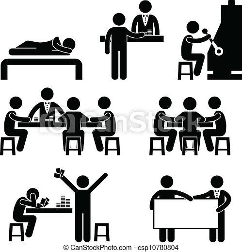 Gambling Casino People Man Host - csp10780804