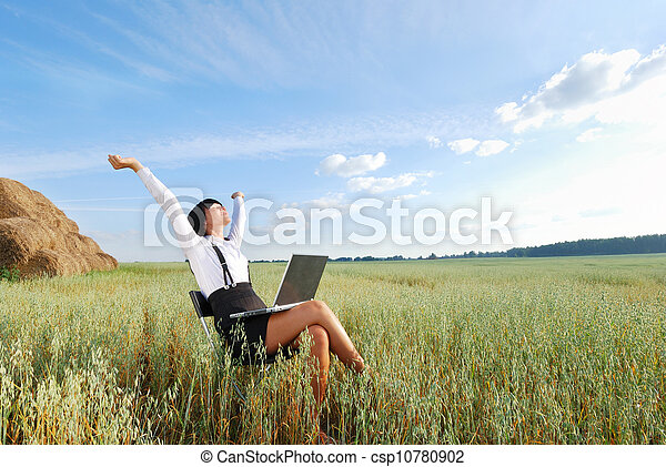 Working in agriculture field - csp10780902