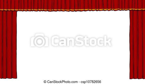 cortina, teatro - csp10782656