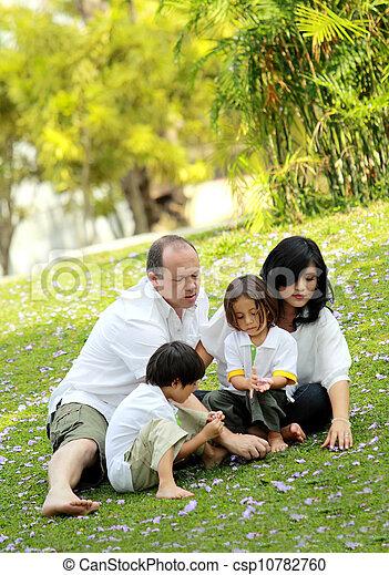 happy family in the park - csp10782760