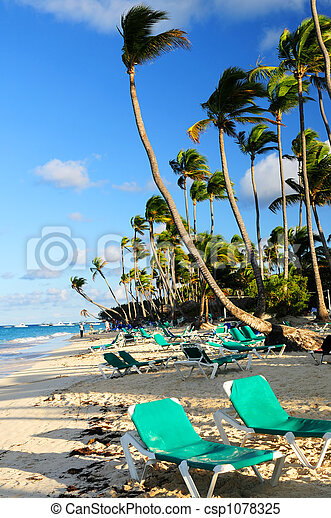Sandy beach of tropical resort - csp1078325