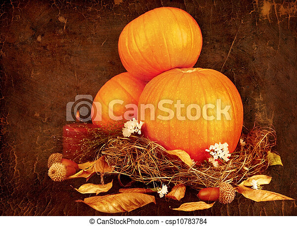 Thanksgiving holiday greeting card - csp10783784