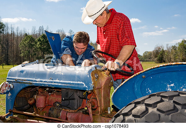 Repairing the Old Tractor - csp1078493