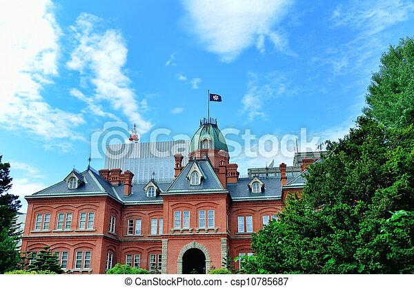 Former Hokkaido Government Office Building. - csp10785687