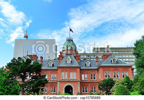 Former Hokkaido Government Office Building. - csp10785689