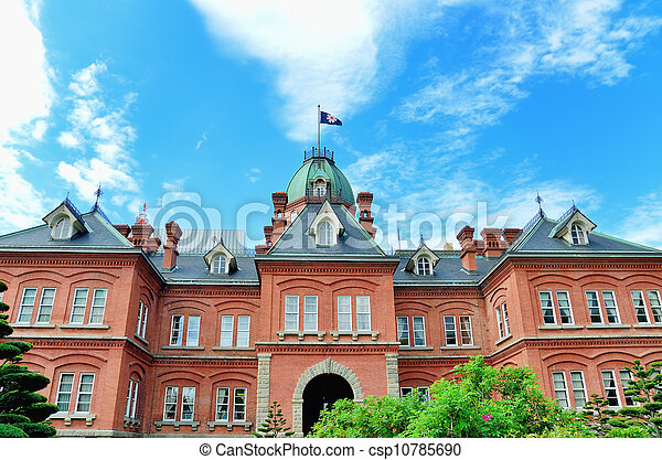 Former Hokkaido Government Office Building. - csp10785690
