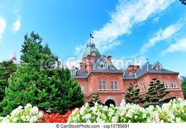 Former Hokkaido Government Office Building. - csp10785691