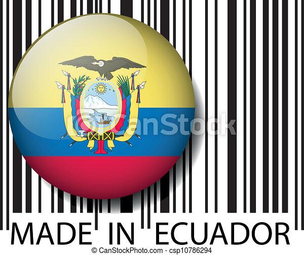 Ecuador Vector Vector Hecho Ecuador