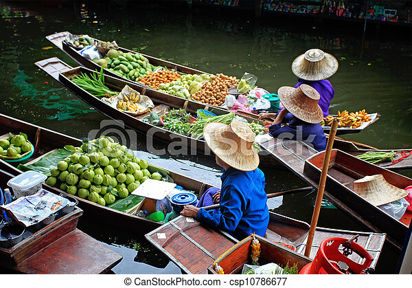 Floating Market in Thailand  - csp10786677