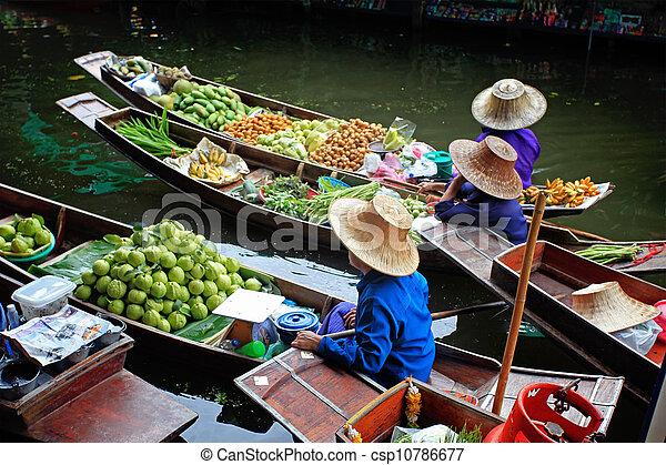 Floating Market in Thailand  - csp10786677