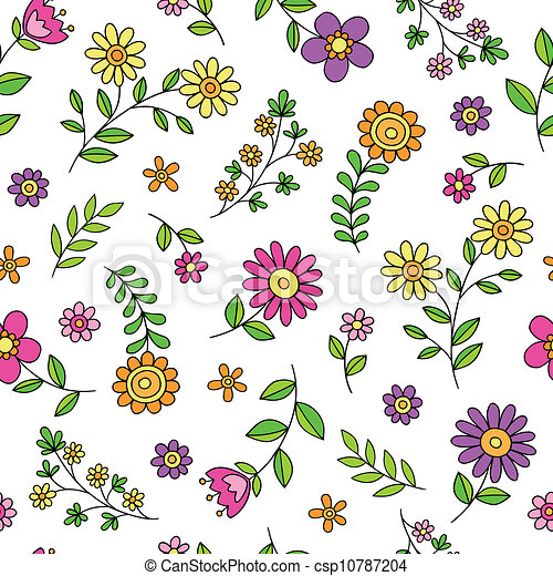 vector clipart of cute flowers spring doodle pattern paisley clip art black and white paisley clip art black and wi