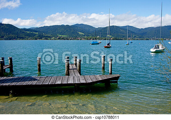 View of the lake Tegernsee - csp10788011