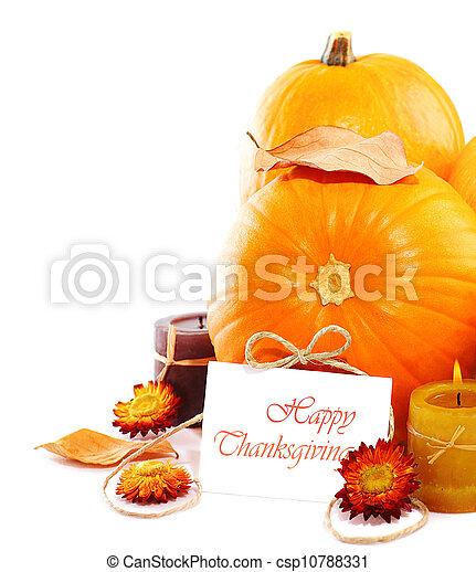 Thanksgiving holiday decoration border - csp10788331