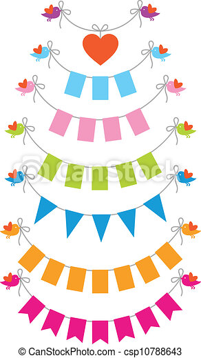 bunting flags with birds - csp10788643