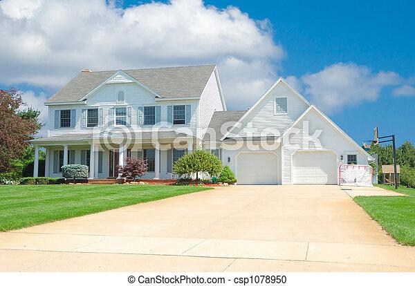 Suburban Home - csp1078950