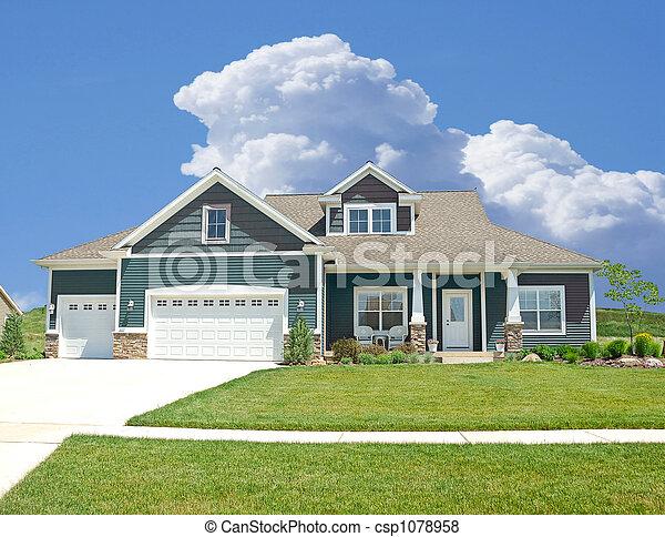 Suburban Home - csp1078958
