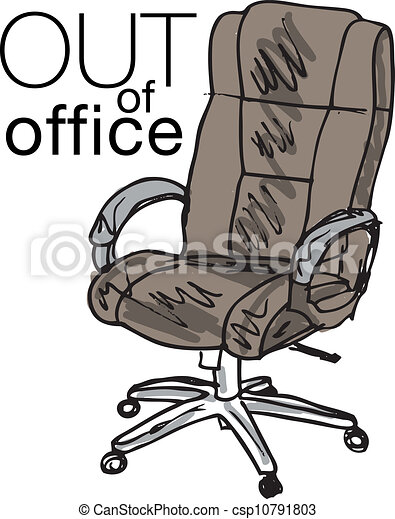 Vector Clipart of Out of office. Vector illustration ...