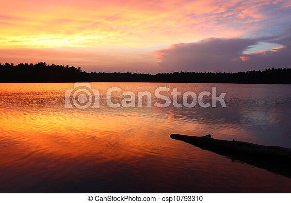 Classic Northwoods Sunset - csp10793310