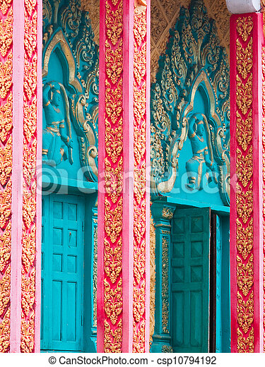 Detail of Buddhist Temple in Cambodia - csp10794192