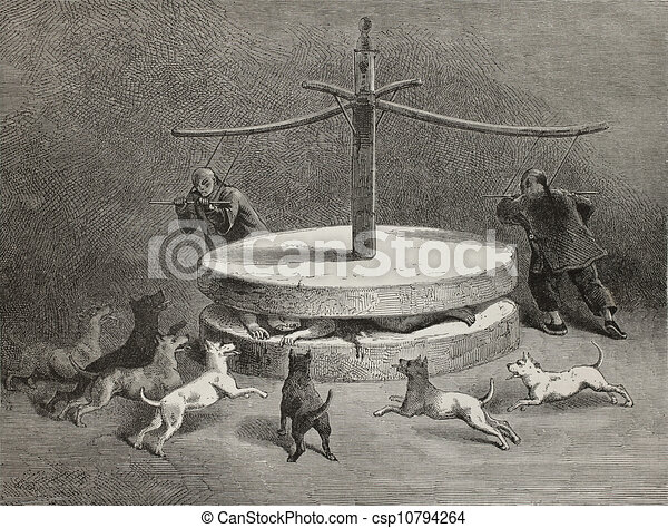 Stock illustration of chinese torture antique illustration of a terrifying csp10794264 - Clipart tortue ...