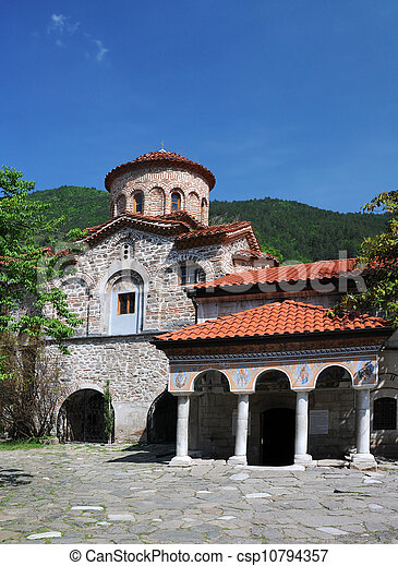 Kolostor, ortodox,  bachkovo, templom - csp10794357