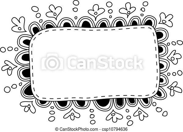 Hand Made Doodle Frame Vector EPS Instant Download