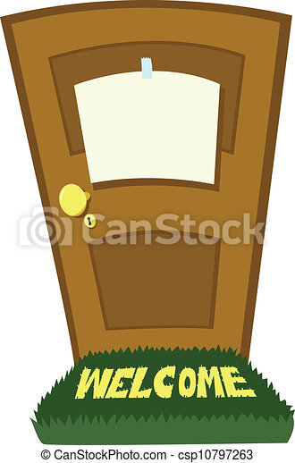 closed door with blank sign - csp10797263