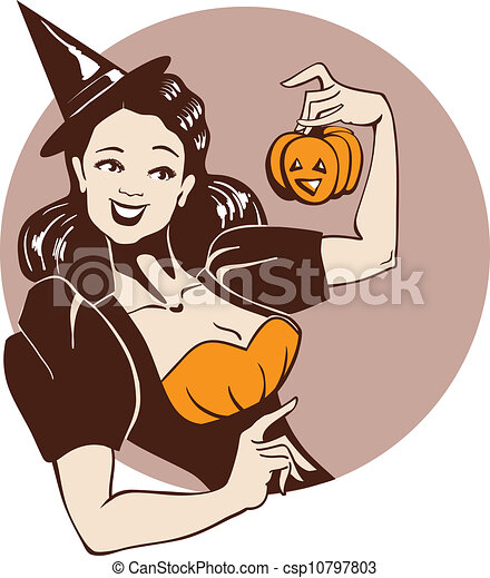 Vintage Witch Clipart