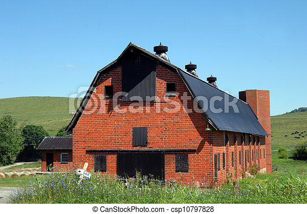 Old Red Brick Barn