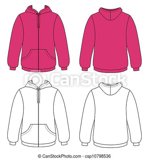 Vectors of Outline hoodie illustration - Template vector illustration ...