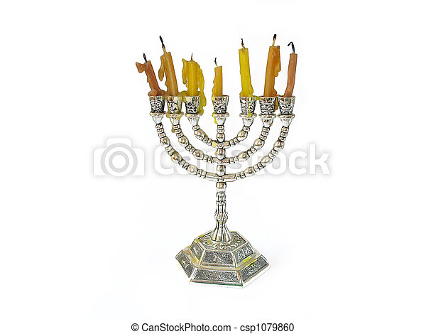 Menorah jewish Candles - csp1079860