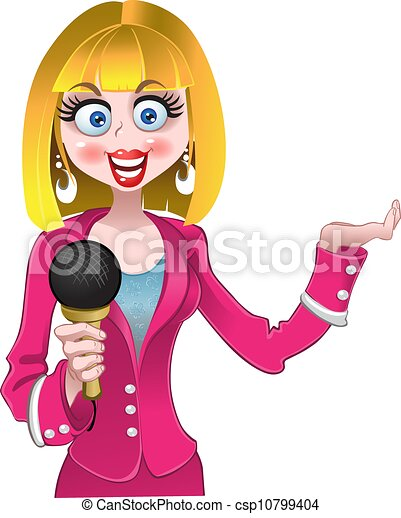 Vector Clipart of reporter csp10799404 - Search Clip Art ...