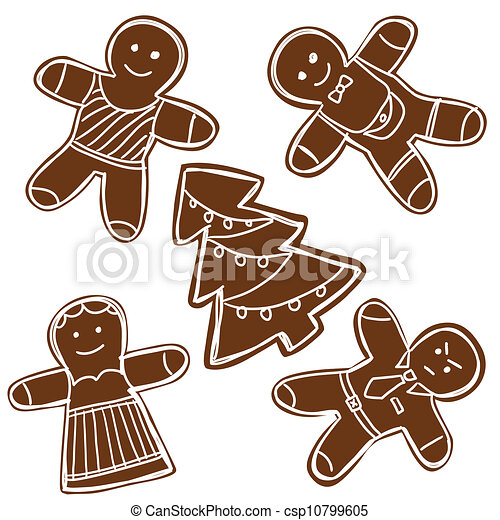 Gingerbread cookies - csp10799605