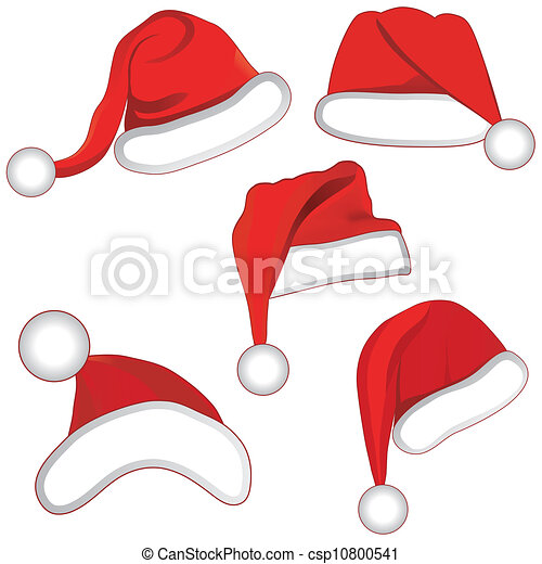 Christmas set collection hat for your design. - csp10800541