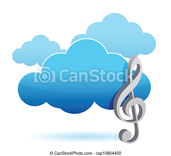 Cloud music storage concept - csp10804400