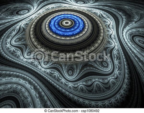 Clip Art De Bleu Oriental Tapis Beau Bleu Fractal
