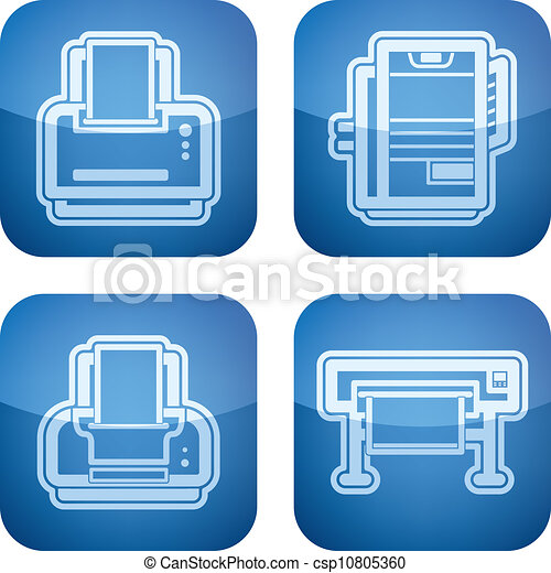 Clip Art Vector of Computer parts and accessories, pictured here ...