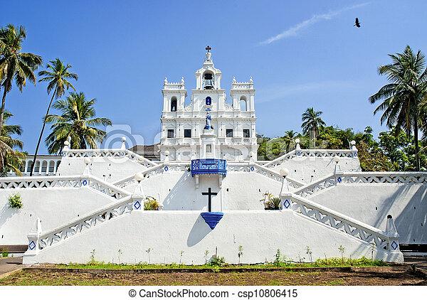 Church of Mary Immaculate Conception in panaji goa india - csp10806415